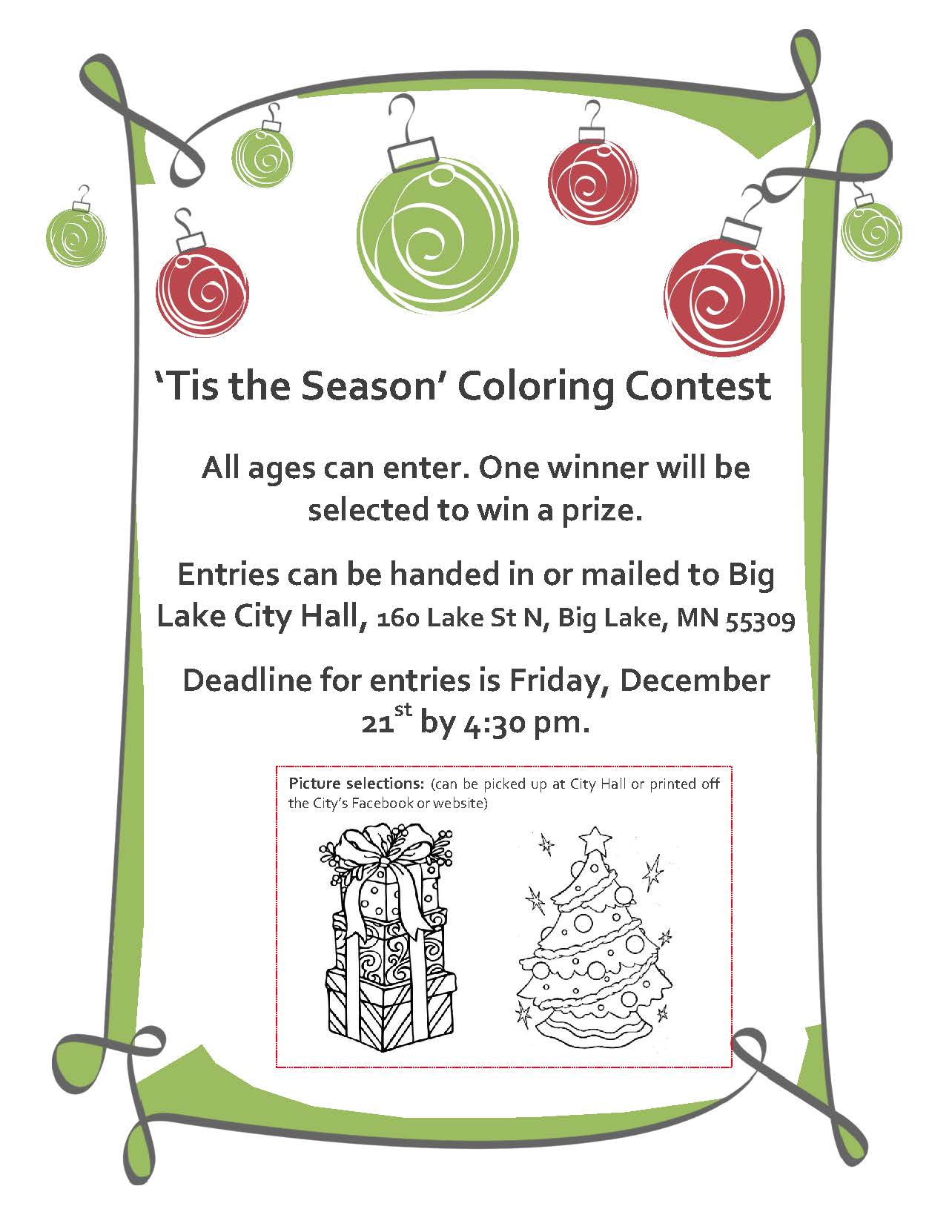 Tis the Season - Coloring Contest Flyer
