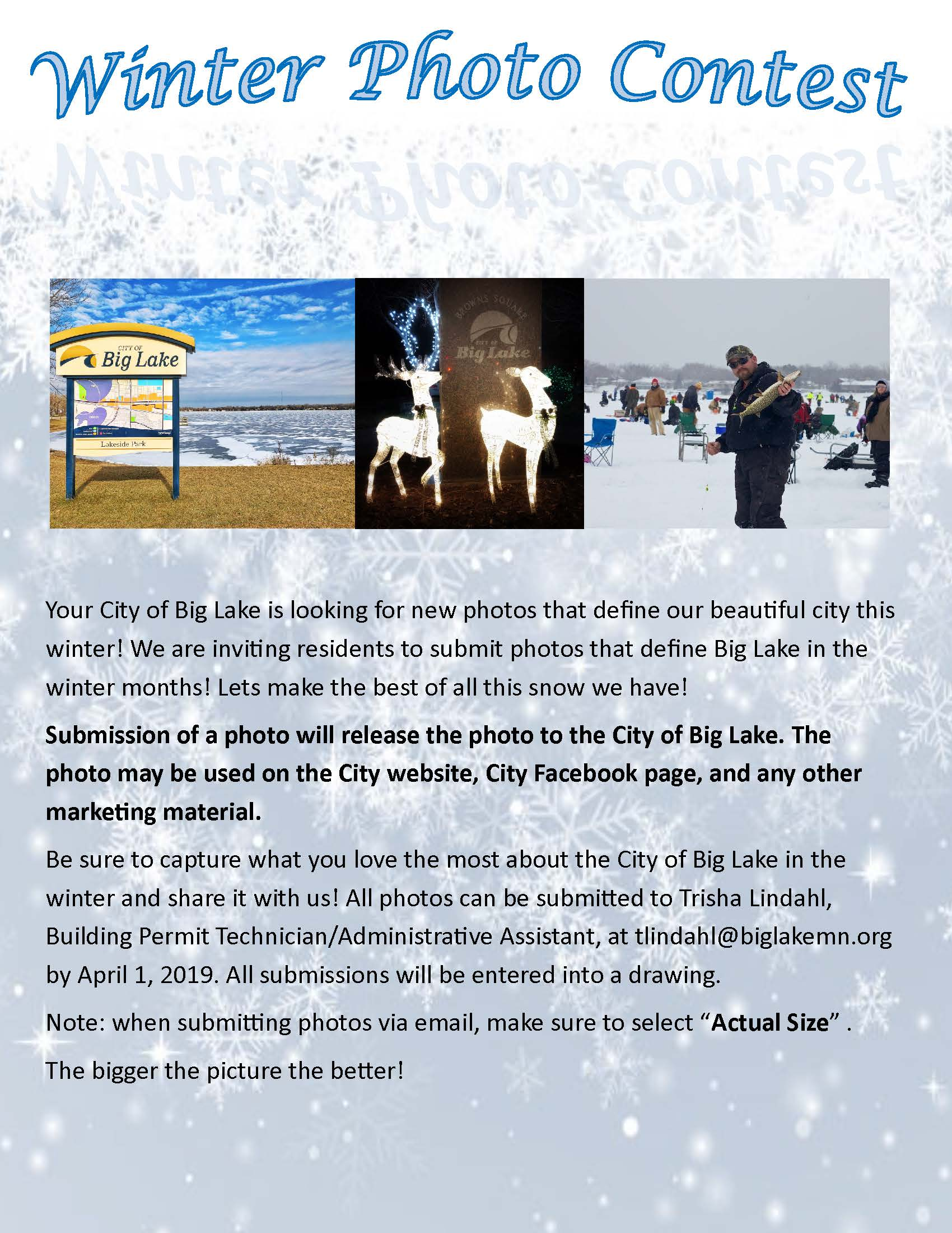 Winter Photo Contest Flyer