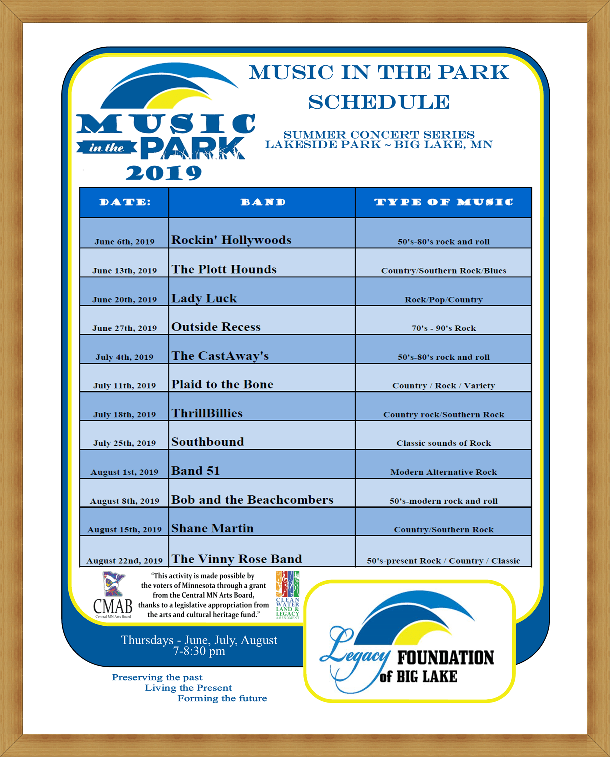 Music in the Park 2019
