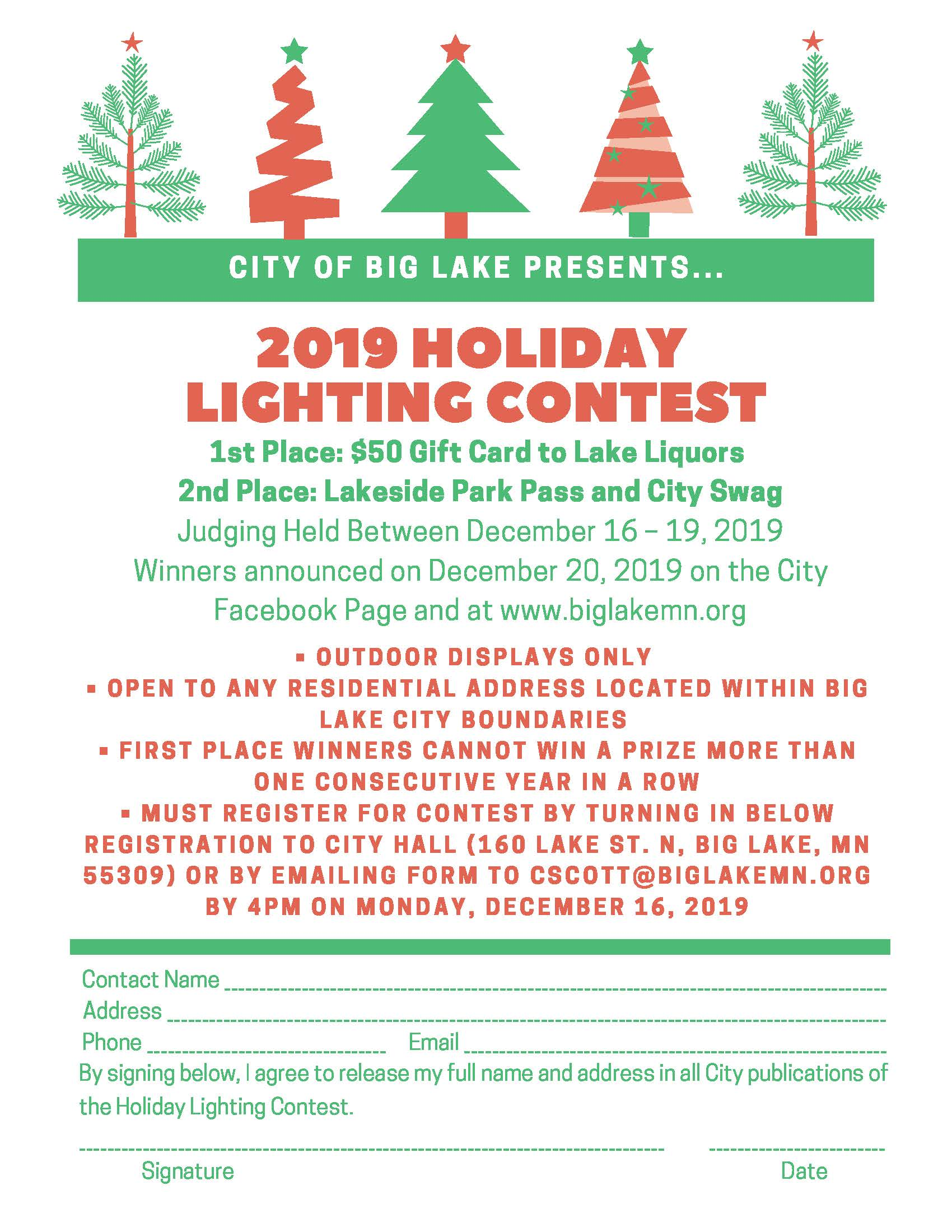 Holiday Lighting Contest Extended