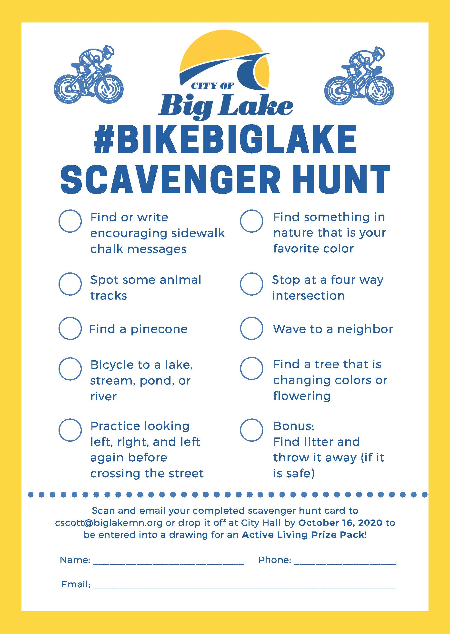 Bike Scavenger Hunt