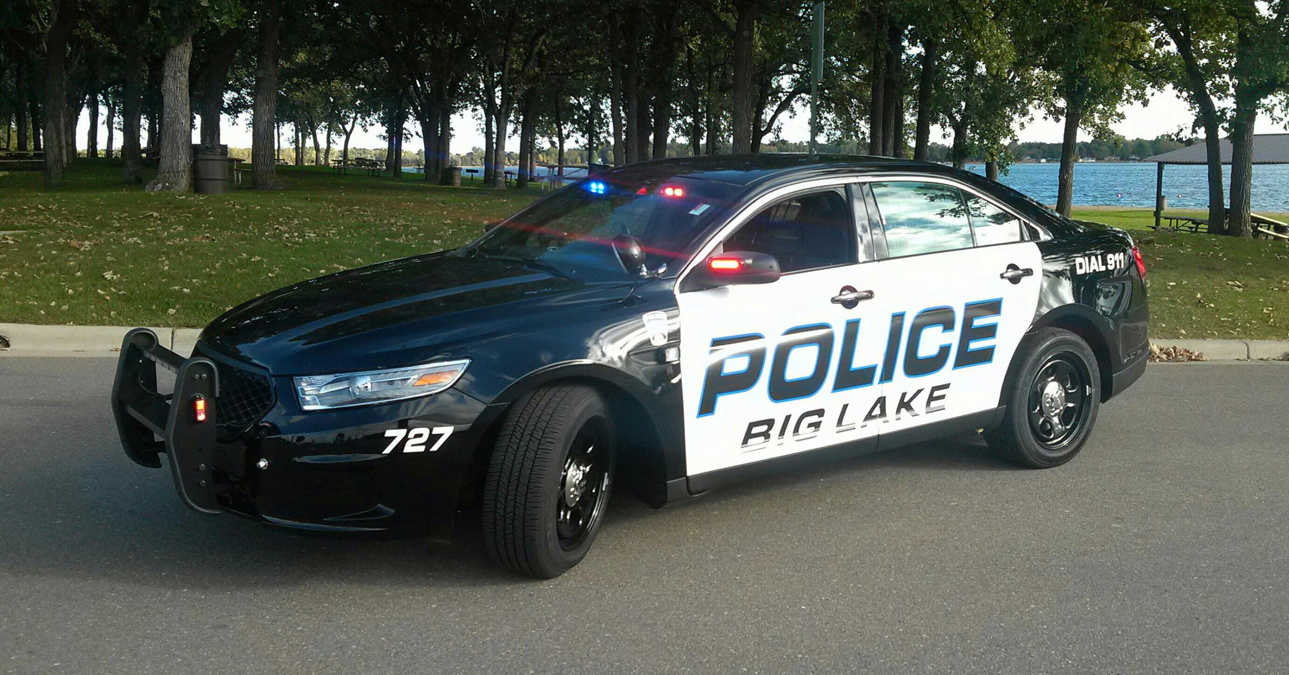Police Car by a Lake 5