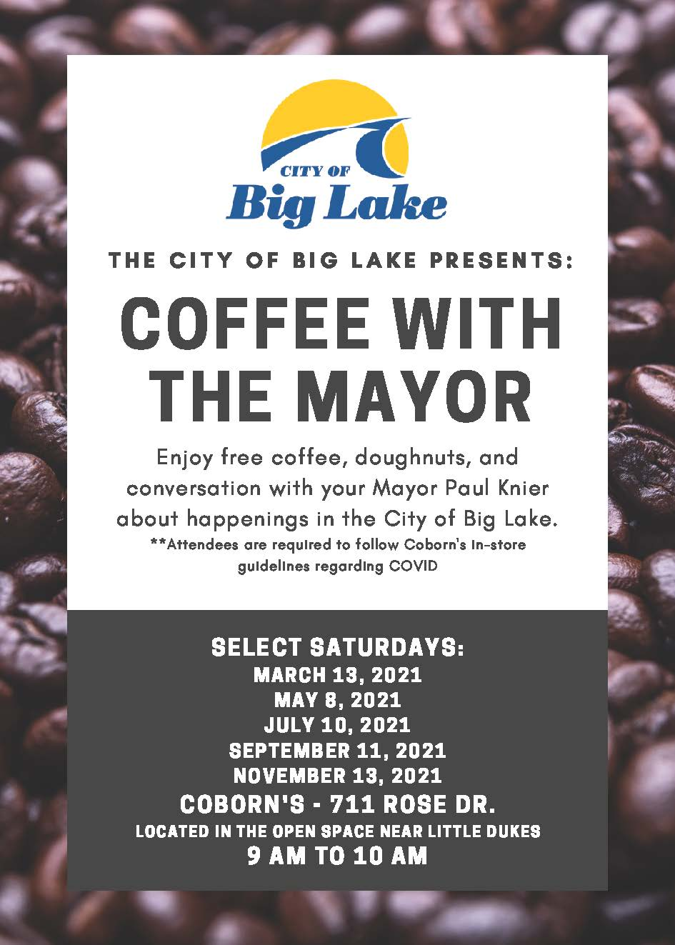 Coffee With the Mayor Flyer