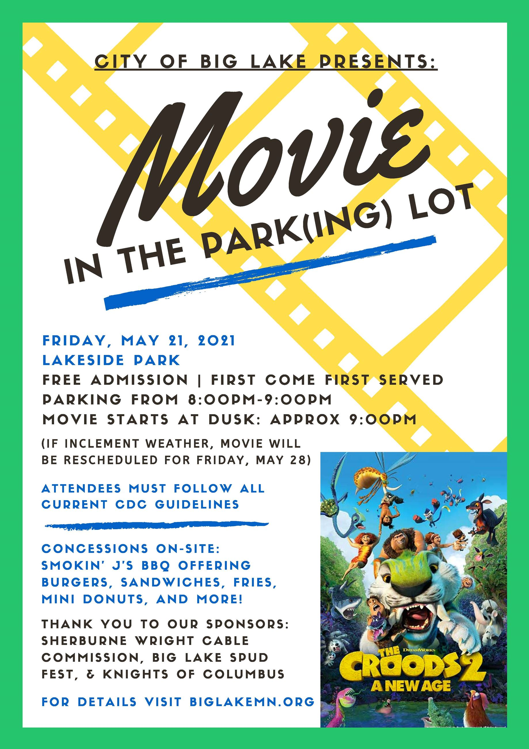 May Movie in the Park Croods