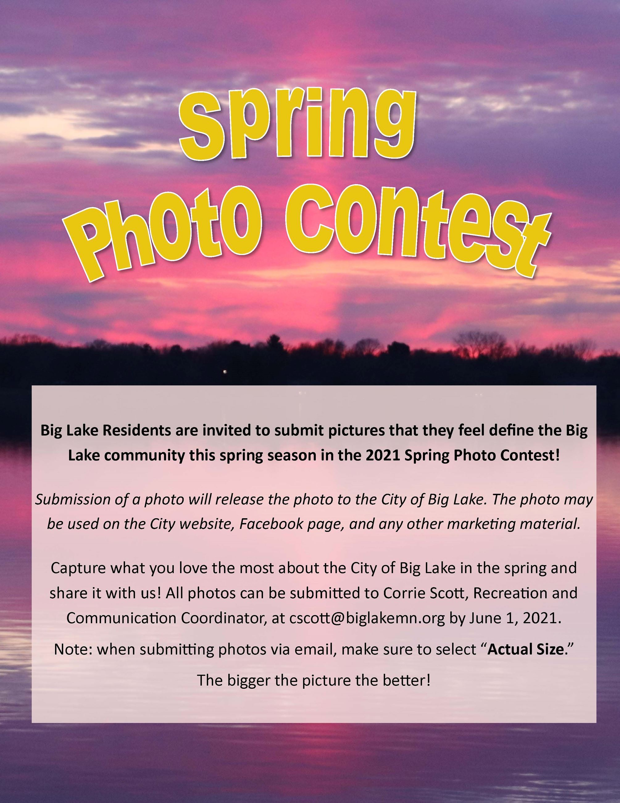 Spring 2021 Photo Contest Flyer