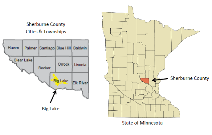 Big Lake County Map